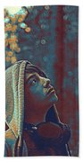 Thoughtful Youth 12 Beach Towel