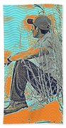 Thoughtful Youth 7 Beach Towel
