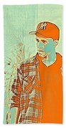 Thoughtful Youth Series 29 Beach Towel