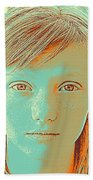 Thoughtful Youth Series 33 Beach Towel