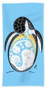 Thoughts And Colors Series Penguin Beach Towel