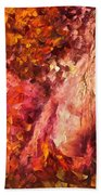 Thoughts Of Pleasure - Palette Knife Oil Painting On Canvas By Leonid Afremov Beach Towel