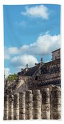 Thousand Columns And Temple Of The Warriors Beach Towel