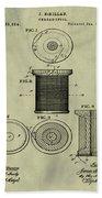 Thread Spool Patent 1877 Weathered Beach Towel