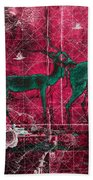 Three Antelope On Red Beach Towel