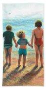Three Beach Children Siblings  Beach Towel