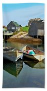 Three Boats At Peggys Cove Beach Towel