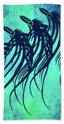 Three Crows Contemporary Minmalism Beach Towel