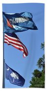 Three Flags Beach Towel