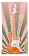 Three Guitars Pop Art Beach Towel