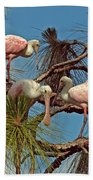 Three In A Tree Beach Towel