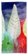 Three Leaves Of Good Beach Towel by Linda Woods
