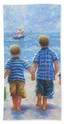 Three Little Beach Boys Walking Beach Towel