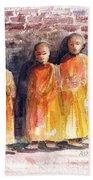 Three Little Monks Beach Towel