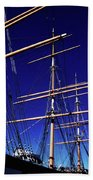 Three Mast Sailing Rig Beach Towel