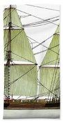 Three Masts Commercial 1760 Beach Towel