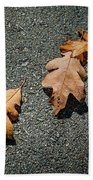 Three Oak Leaves Beach Towel
