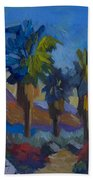 Three Palms At Palm Desert Beach Towel