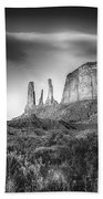 Three Sisters Formation At Monument Valley Beach Towel