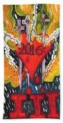 Three Swords Of 2016 Beach Towel