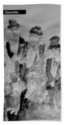 Three Tenors And A Pianist Beach Towel