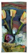 Three Tulips Beach Towel