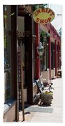 Thrift Shop And Sign In Manitou Springs Beach Towel