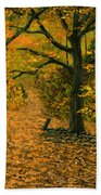 Through The Fallen Leaves Beach Towel