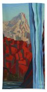 Through The Narrows, Zion Beach Towel by Erin Fickert-Rowland