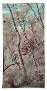 Through The Trees In Infrared Beach Towel
