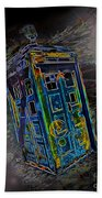 Tardis - Through Time And Space Beach Towel