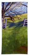 Throught The Pasture Gate Beach Towel