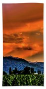 Thunder Storm In The Valley Beach Towel