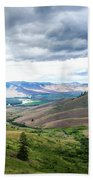 Thunderclouds Over The Hills Beach Towel