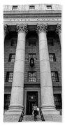 Thurgood Marshall United States Courthouse, Lower Manhattan New  Beach Towel