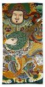 Tibetan Buddhist Mural Beach Towel