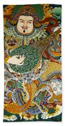 Tibetan Buddhist Mural Beach Sheet