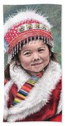 Tibetan Girl Beach Towel