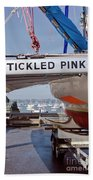 Tickled Pink In Mylor Cornwall Beach Towel
