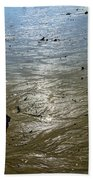 Tides Out After The Storm Beach Towel