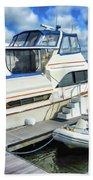Tidewater Yacht Marina 5 Beach Towel by Lanjee Chee