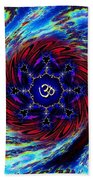 Tie Dyed Om Swirl Beach Towel