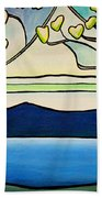 Tiffany And Blossoms Stained Glass Beach Towel