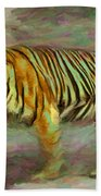 Save Tiger Beach Towel