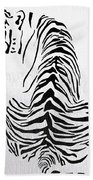 Tiger Animal Decorative Black And White Poster 4 - By  Diana Van Beach Towel