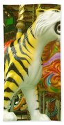 Tiger Carousel Beach Towel