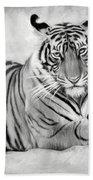 Tiger Cub At Rest Beach Sheet