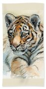 Tiger Cub Portrait 865 Beach Towel