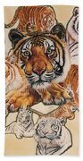 Tiger Haven Beach Towel