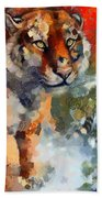 Tiger Hotty Totty Style Beach Towel